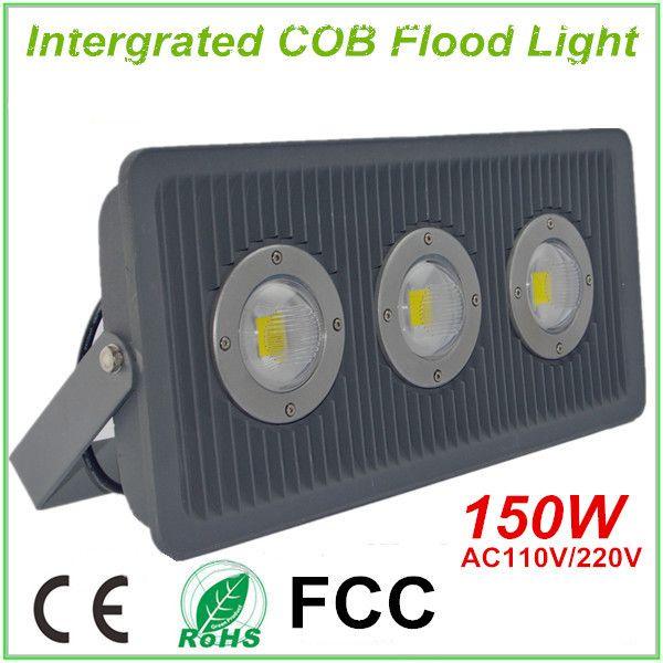 150W Intergrated COB Floodlight Aviation Aluminum Housing LED Flood Lamp IP65 110V/220V for Square Yard Garden and Tunnel Lighting
