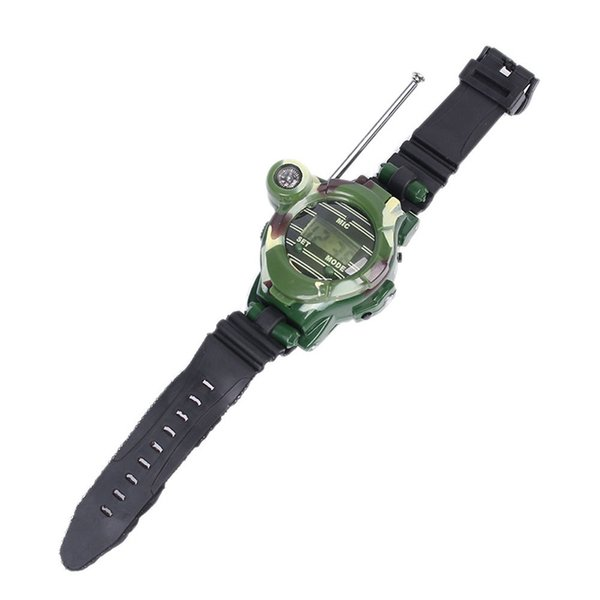 2Pcs/set Multi-functional Two Way Radio Toy with Compass Magnifier Reflector Walkie Talkie Toys Children Military Style Wrist Watch