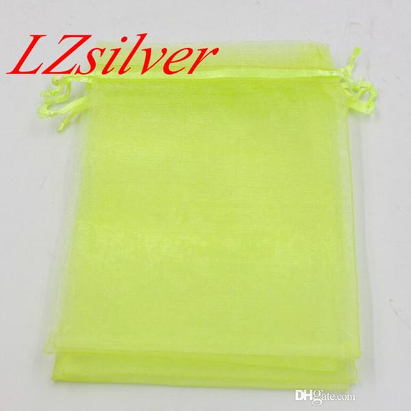 Heiße Angebote ! 100pcs Fruit Green mit Drawstring Organza Geschenk Taschen 7x9cm 9x11cm 10x15cm etc. Hochzeit Party Favor Geschenkbeutel