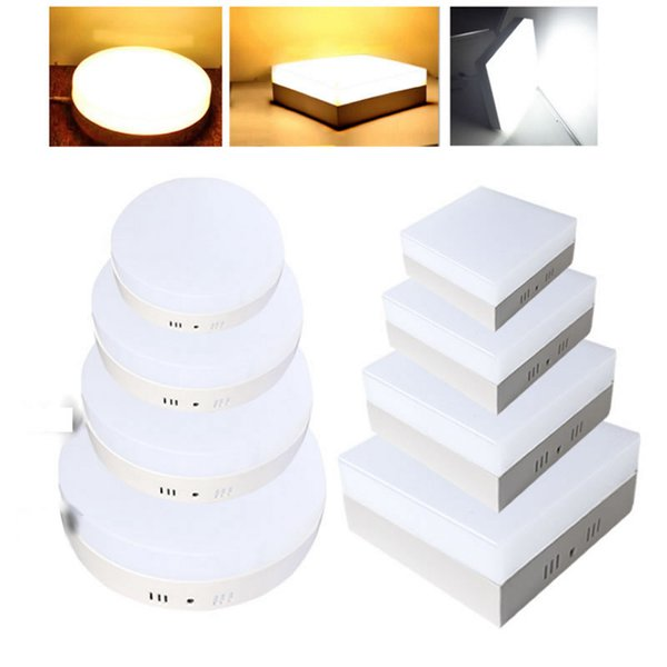 9W 15W 21W 30W Square/Round Led Panel Light Surface Mounted leds Downlight ceiling down 110-240V lampada led lamp + LED Driver