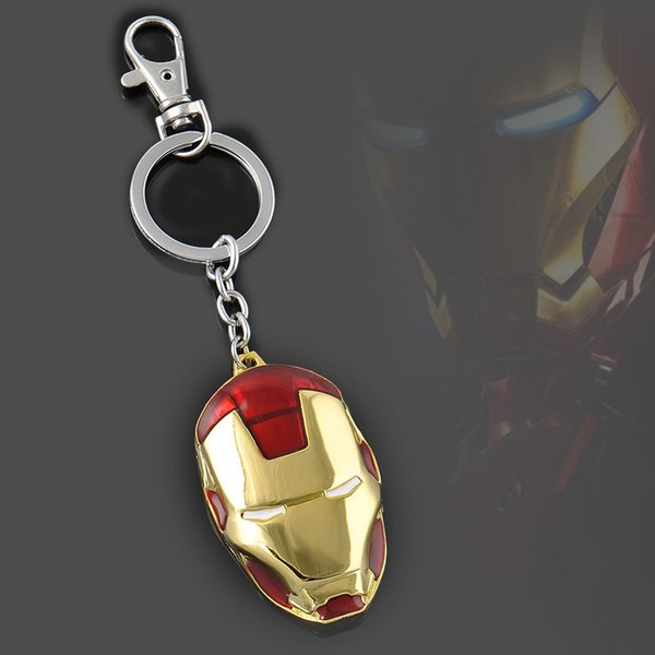 Hot Moives The Avengers Super Hero Ironman Pendant Keychain Marvel Metal Key Chain Ring Free Shipping