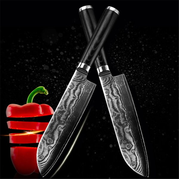 new VG10 damascus knife 7 inch chef knife 67 layers japan damascus steel kitchen knives cooking tools