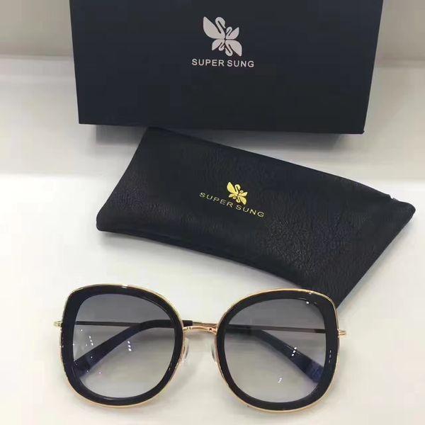 النظارات الشمسية الفاخرة شعبية إيطاليا SUPER SUNG موضة النظارات الشمسية أعلى جودة النظارات النساء تصميم خاص الأشعة فوق البنفسجية تعال القضية 001