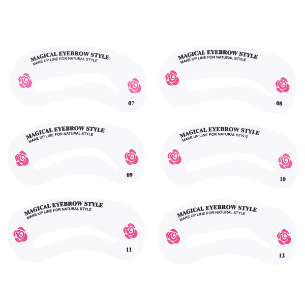 Acheter Pro Réutilisable Pochoir à Sourcils Ensemble Eye Brow Guide De Dessin Bricolage Styling Façonner Toilettage Modèle Carte Facile Maquillage