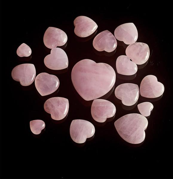 Whosale Natural Gemstone Loose Pendant Heart Shape Rose Quartz Pendant