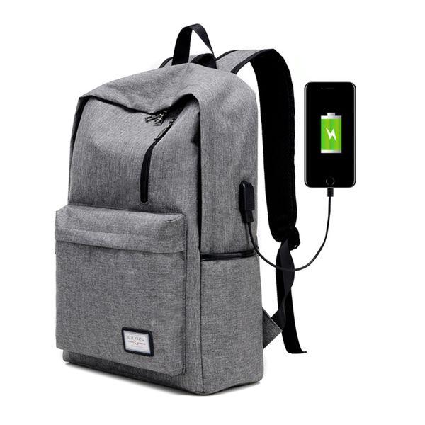 top popular Men's Everyday Backpack Nylon Teenager School Bag Tech Backpack Women Daypack Rucksack Laptop Bag with USB Charge Port B093 2019