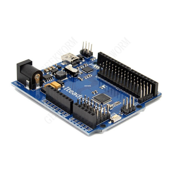 Freeshipping ITEAD Iteaduino UNO ATmega328P Development Board 14 digital input/output pins 16 MHz crystal oscillator