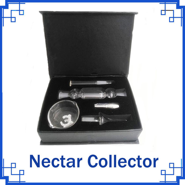Hot sell product glass nectar collector kit with titanium tip titanium for Honey Straw Concentrate Honey Dab Straw Micro Nectar collector
