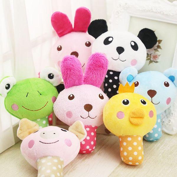 개 완구 소리 귀여운 동물 디자인 동물원 버섯 장난감 작은 테디 애완 동물 용품 씹다 몰 봉제 Plaything 6 Styles 3 5gg F R