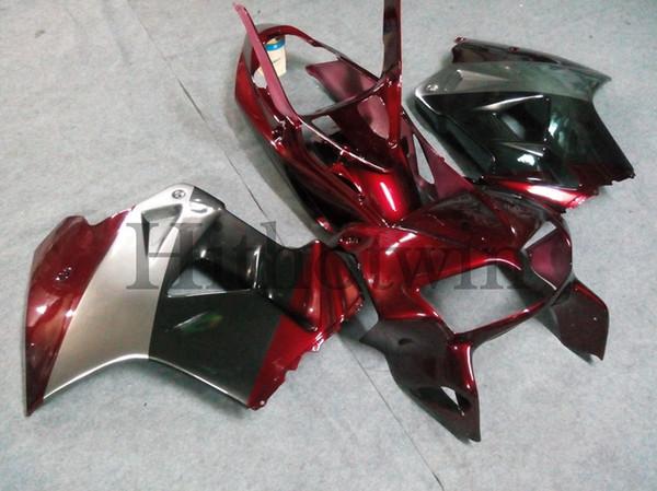 23colors + Botls Carénage ABS pour honda VFR800 1998 1999 2000 2001 rouge noir Kit carrosserie