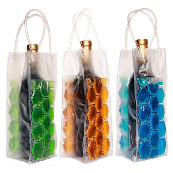 Rapid Ice Wine Cooler PVC Beer Cooler Bag Outdoors Ice Gel Bag Picnic CoolSacks Wine Coolers Chillers Frozen Bag Bottle Cooler 200pcs