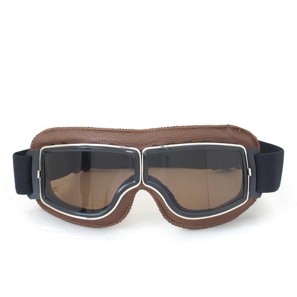 2017 de Alta calidad NUEVA WWII Vintage Harley estilo motocicleta gafas de motocross gafas de moto Scooter Gafas Gafas Aviador Piloto Cruiser T13