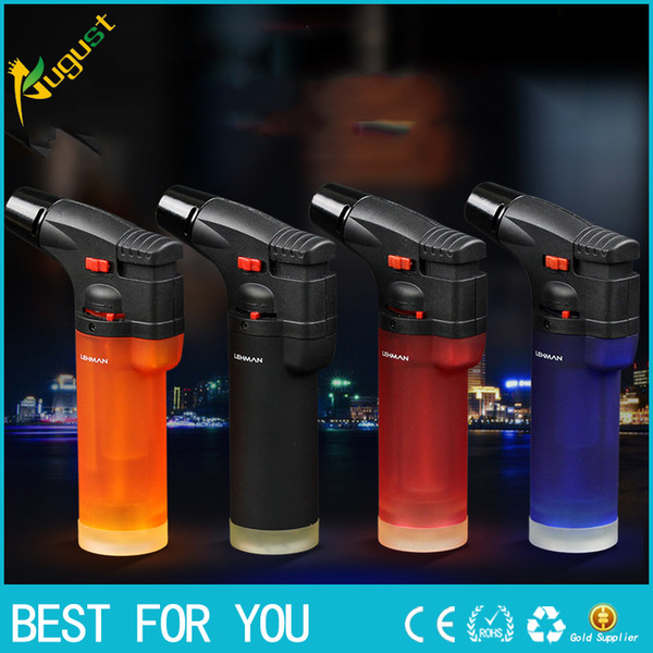 best selling New hot High quality personality creative plastic windproof lighter portable jet torch lighter cigar gun lighter