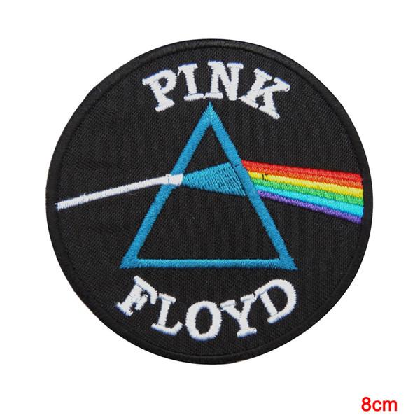 El lado oscuro de Pink Floyd de la luna cose el hierro en el parche Chaleco bordado Chaqueta de dibujos animados Revestimientos de ropa minada