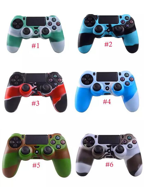 best selling 2017 New Silicone Skin Cover Case Rubber Case Grip Cover Protection Skin For Playstation 4 PS4 Dualshock Wireless Controller FREE DHL