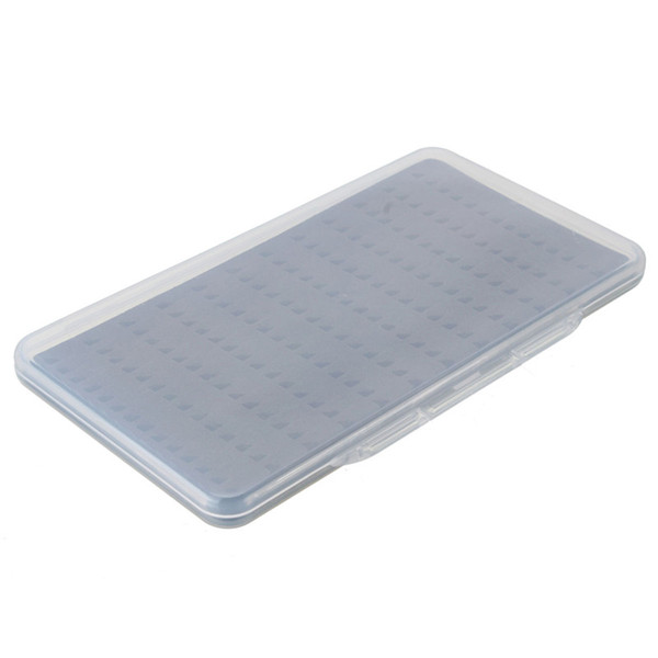 Wholesale- Slim Fishing Tackle Box Slit Foam Insert Fly Fishing Lure Bait Hook Case Plastic Cover Box accessory tool
