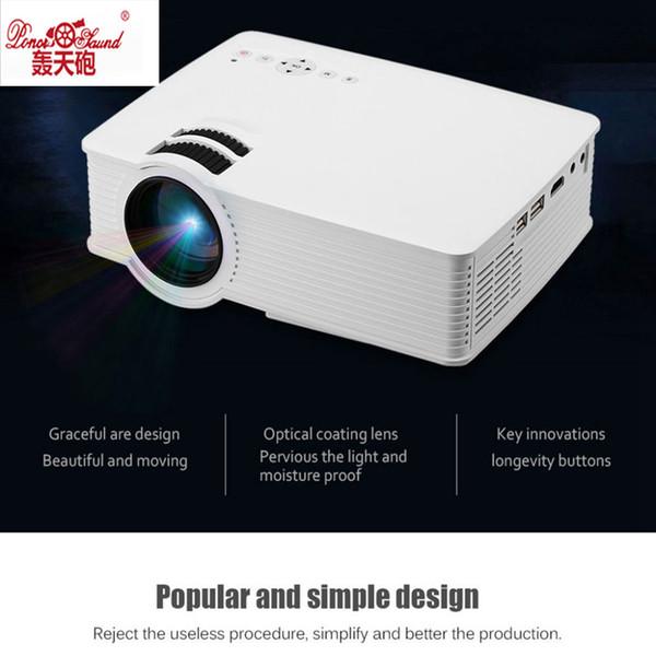 Wholesale- Poner Saund GP9 WIFI Mini LED Projector 854x480pixels Support 1080P 1800 Lumens Home Cinema HDMI/USB/SD/AV/3.5mm GP9 Proyector