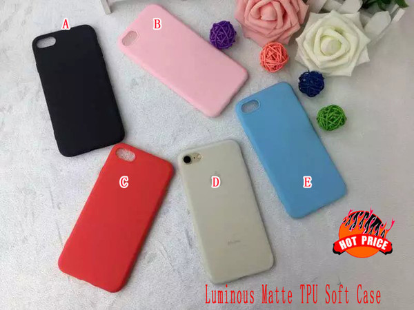 Luminous Soft TPU Case For Iphone 7 7plus I7 6 6S Plus Huawei P9 Matte Frosted Glow In Dark Silicone gel Cell phone Skin Cover Luxury 100pcs