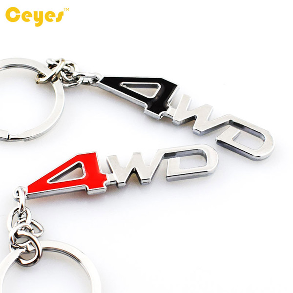 Car Key Chain Logo Brand 4WD Emblem Badges for nissan audi opel toyota ralli art bmw 3D Metal Car Logo Keyring