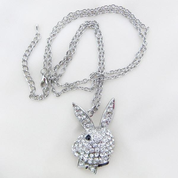 Argent 925 Plaque Femme Fashion Couronne Cristal Collier Pendentif Chaîne Bijoux Cadeau