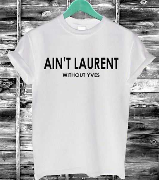 Atacado- 2016 verão mulheres Tshirt não é letras Imprimir algodão Casual engraçado T-Shirt preto branco de manga curta Slim Sexy camiseta F4203-66