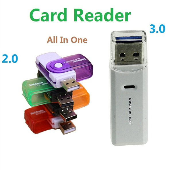 Multi-purpose card reader high-speed USB3.0 SD Card Reader multi cards in 1 adapter connector support SD TF M2 memory MS Duo RS-MMC