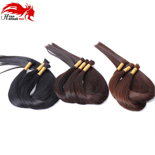 top popular 7A Best Quality Brazilian Hair 100% No Weft Bulk Human Unprocessed Braiding Hair BulkHair Brazilian Hair Bulk 2019