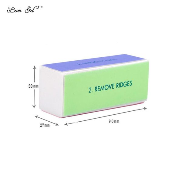 Wholesale- Beau Gel 1pcs 4 Way Sponge Buffer Block Nail File Buffer Polishing Block Sanding Nail Art Manicure Sponge Tools