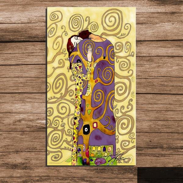 Рамка Gustav Klimt - Kiss Pure Ручная роспись Абстракционизм Картина Маслом, Для Домашнего Декора Стен На Высоком Качестве Размер холста можно настроить