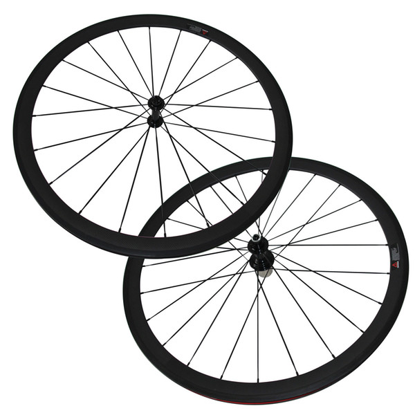 Only 1380g 23mm width carbon fiber wheels 38mm clincher carbon road bike wheelset with Powerway R13 Caramic Bearing Hub