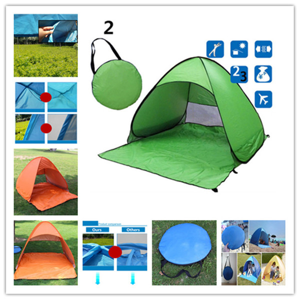 Outdoors Tents Quick Automatic Opening 50+ UV Protection Outdoor Gear Camping Shelters Tent Beach Travel Lawn Multicolor 10 PCS