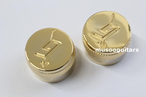 Free shipping A Set of 2 pcs golden metal Control Knobs for Electric Guitar