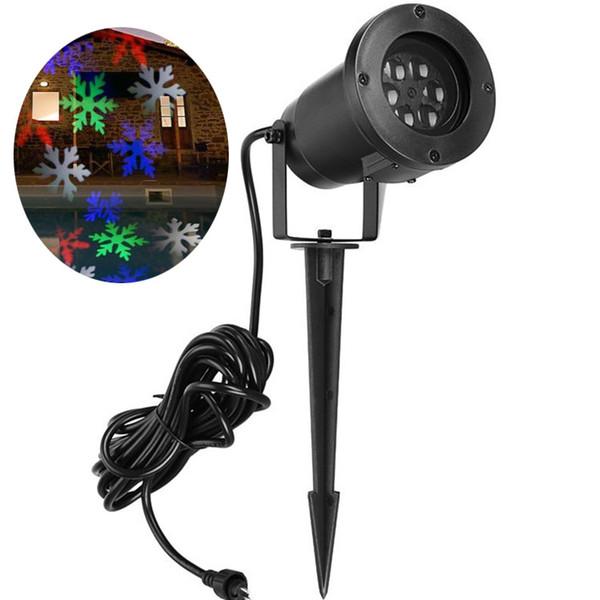 LED snowflake projector AC100-265V EU US UK AU plug snow moving LED decoration xmas lamp outdoor LED lights