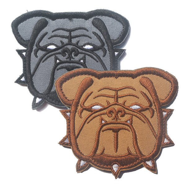 best selling Mil-Spec Monkey Bulldog Head Large Patch Tactical Badge Morale Patches Hook & Loop 3D 100% Embroidery Army Badges free ship