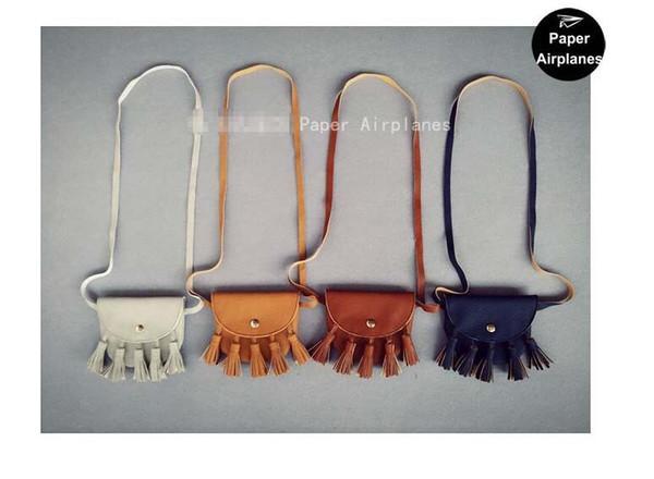 Baby Girls Coin Purses Handmade 4 Color Kids Purses Handbags Girl Tassel Bag Lace bags KIKIKIDS A 080