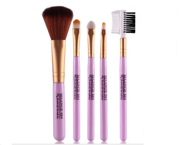 2017 New Foundation Blush Brush Cleaner 5Pcs Makeup Brushes Sets Gift Cosmetics Tools Eyeshadow Foundation Cosmetic Makeup Brush Blusher Bru