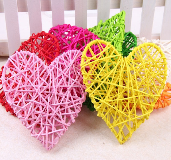 10cm Rattan ball heart vine confetti Scatter for Gift box Craft Birthday Wedding Party table centerpieces favor Decoration DIY