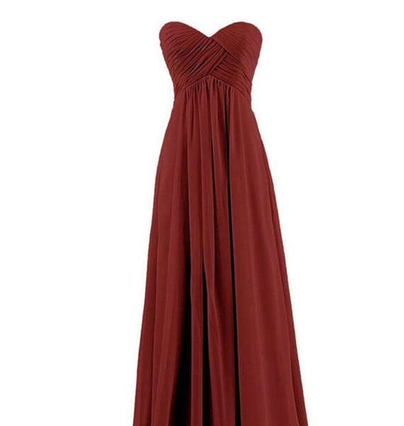 African Plus Size Bridesmaid Dresses Sweetheart A Line Long Ruffle Chiffon Nigeria Wedding Dresses