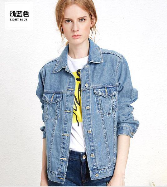 Printemps Automne BF filles style Denim Jakcets Femmes Mode en vrac Veste en jean Manteaux Lovely Ladies courtes Vestes Casual