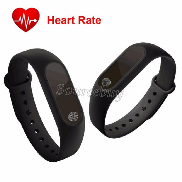 M2 Band monitor de ritmo cardíaco Smart Wristband Miband Sport pulsera para Android iOS Fitness Track paso indicador OLED pantalla de tiempo IP67 a prueba de agua