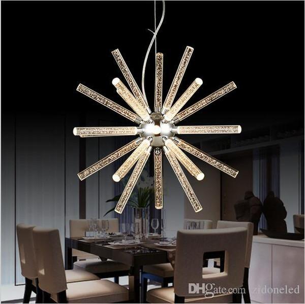 Creative modern minimalist Modern Led Hanging Pendant Lights Acrylic chandelier For Shop Bar Dining Kitchen Room AC85-265V Led pendant light