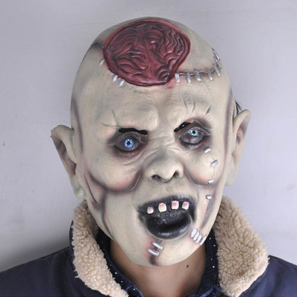 Creepy Scary Cosplay Latex Mask Halloween Full Face Demon Devil Mask Party Full Headband Masks Party