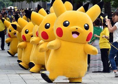 2017 vente chaude! Pikachu Costume De Mascotte Déguisement Costume Pikachu Costumes De Mascotte EMS Pikachu Mascotte Livraison Gratuite