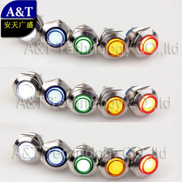 High quality 19mm metal waterproof IP67 Car eye light ,anti vandal led indicator light, 4 models led signal lamp for choice