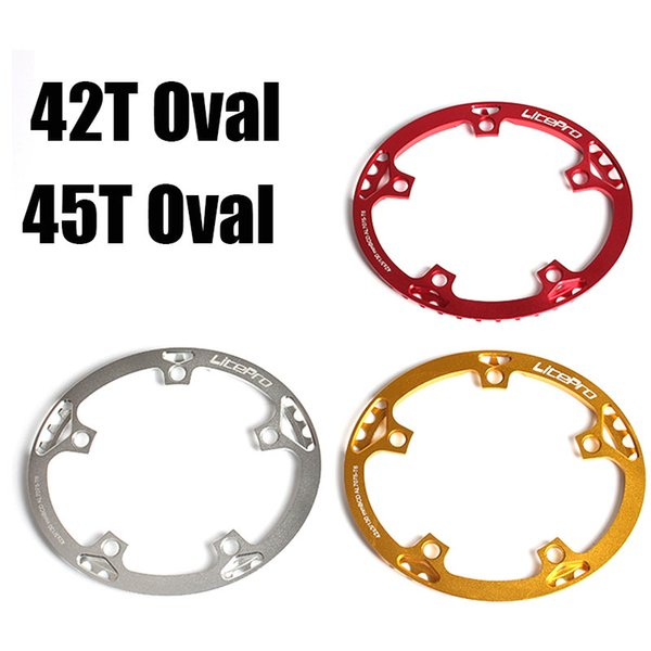 best selling Newest 130 BCD 42T 45T Oval Folding Bicycle Chainwheel Cycling Chainwheel 3 Color Bike Chainwheel For Choice