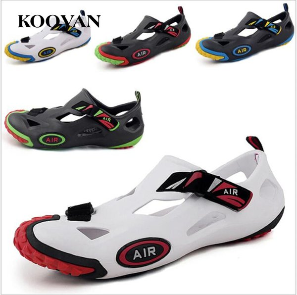 Men Garden Shoes Sandals Fashion Lazy Slipper Beach Slippers Hole Shoe 2017 Koovan Summer High Quality Non-Slip Breathable Free Ship M017