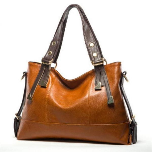 Wholesale- 2016 Fashion Women Messenger Bags Genuine Leather Women Shoulder Bags Crossbody Bag Famous Brand Ladies Handbags Cross Body Bag