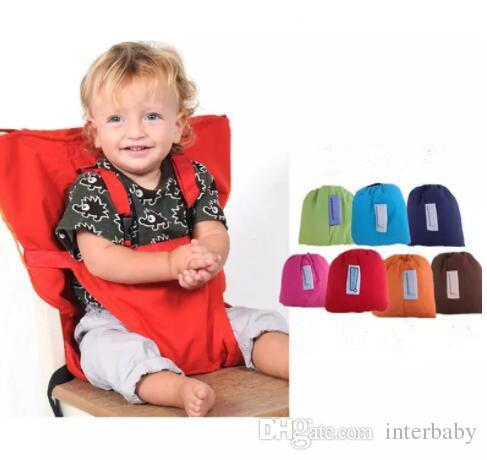 best selling Baby Sack Seats Seat Cover Sack'n Seats Portable Kids Safety Feeding Chair Solid Color Upgrate Seat Cover Infant Eat Chair Seat Belts J462