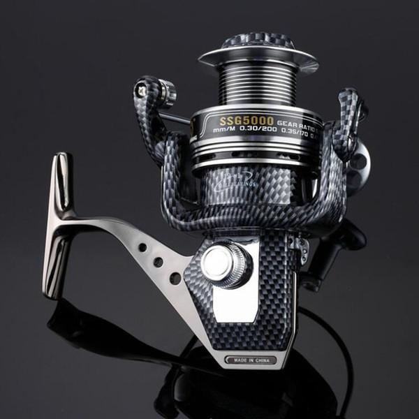 Spool Fish Reel 12+1BB Ball Bearings Spinning Fishing Reel Reels Speed Gear SSG 1000/2000/3000/4000/5000/6000/7000