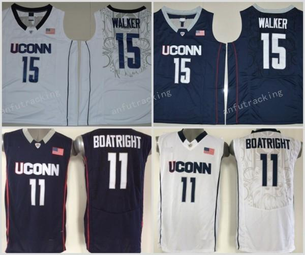 ef0bc0ca7901 ... 2017 Kemba Walker Uconn Huskies College Basketball Jerseys Navy Blue 15  Kemba Walker 11 Ryan Boatright ...